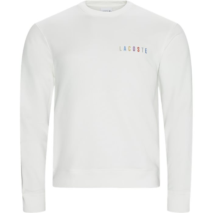 Embroidered Multicolour Signature Fleece Sweatshirt - Sweatshirts - Regular - Hvid